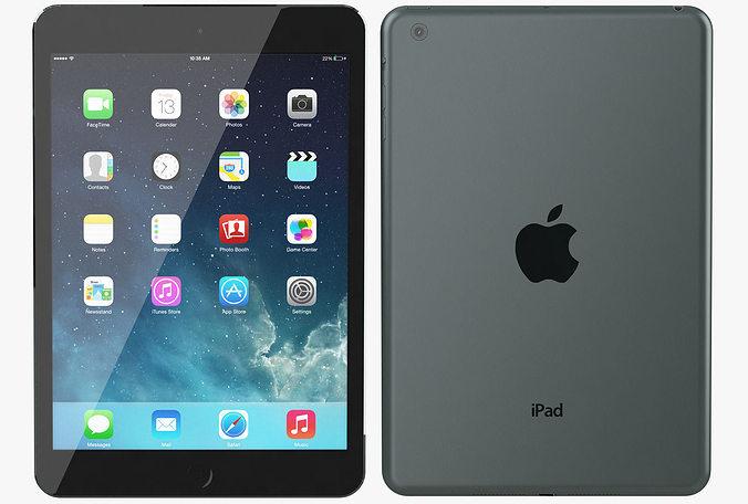 3D model Apple iPad Mini Black Slate