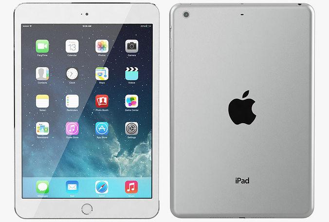 Apple iPad Mini 2 All Color 3D model MAX OBJ