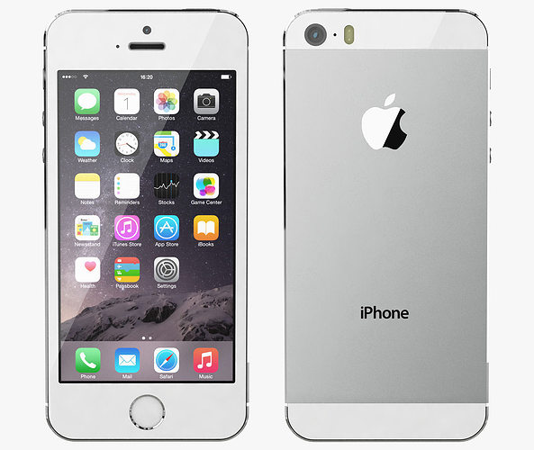 iphone new model apple iphone 5s all color 3d model cgtrader 21638
