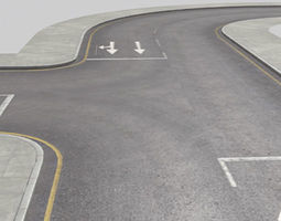Roads Construction Kit 3D asset