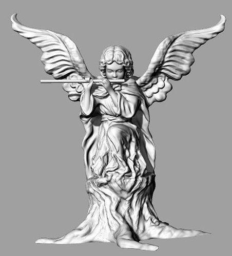 angel sculpt 3d model stl 1