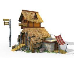 3D asset viking house