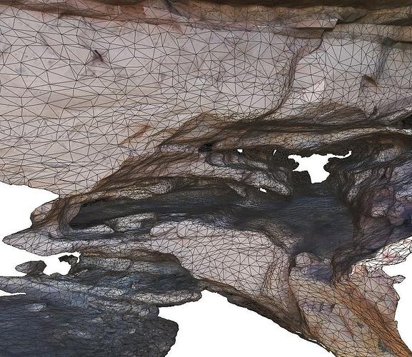 cave complex i - lowpoly 3d model low-poly obj mtl ply 1