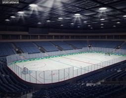 hockey arena 3d model max obj 3ds fbx c4d lwo lw lws