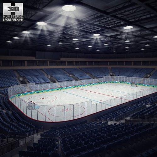 hockey arena 3d model low-poly max obj 3ds fbx c4d lwo lw lws 1