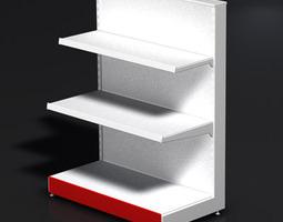 3D Retail Store Display Shelf Unit