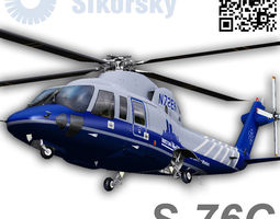 sikorsky s76c bostom med flight 3d model low-poly rigged animated max