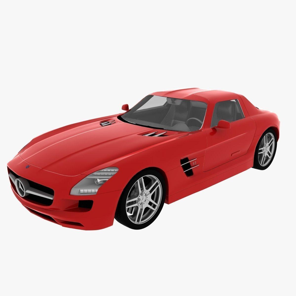 Mercedes benz sls amg 3d model max obj 3ds fbx dae for Mercedes benz sls amg toy car