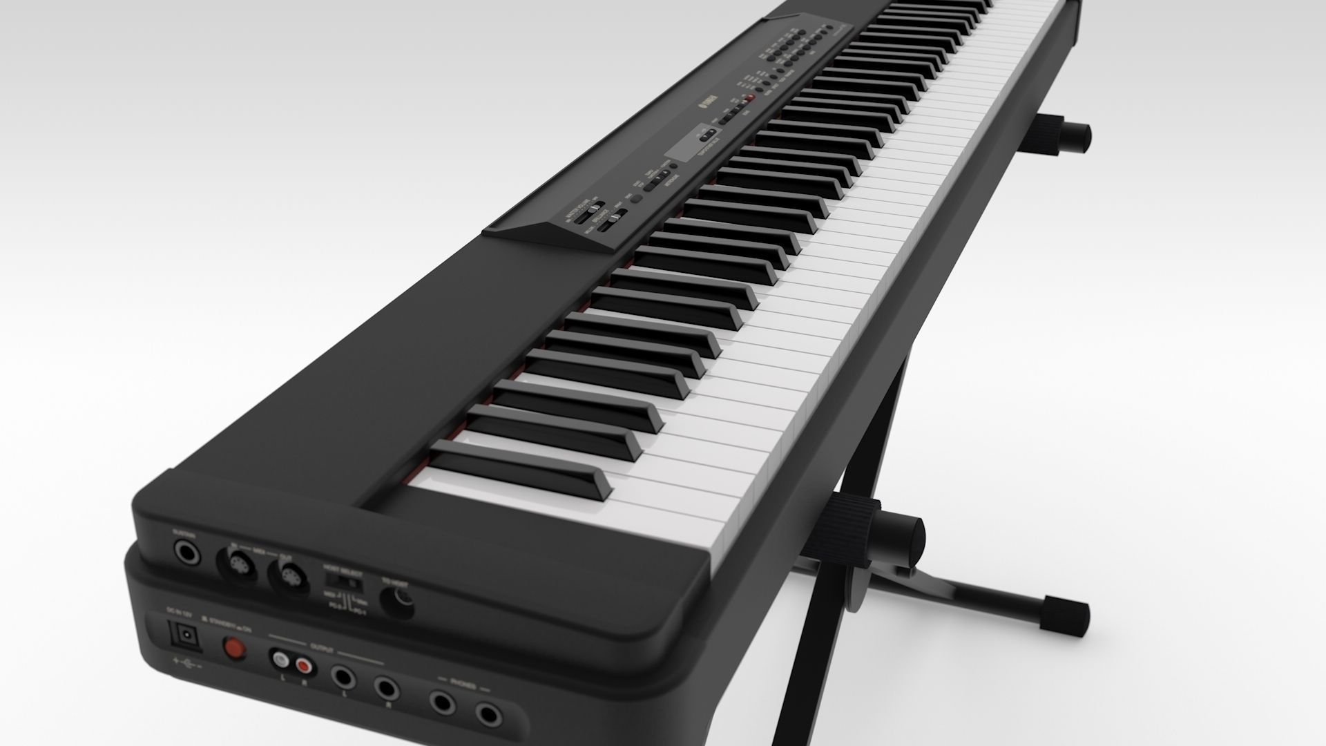 yamaha stage piano p 90 3d model obj 3ds fbx c4d