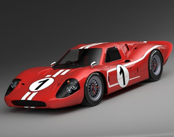 Ford GT40 1967 MK IV 3D Model