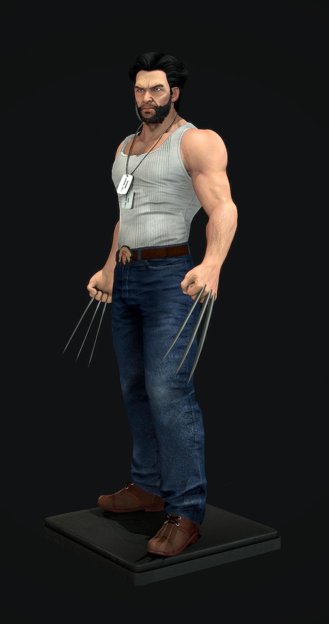 3d Models For Poser And Daz Studio: Wolverine 3D Model Game Ready .max .obj .fbx
