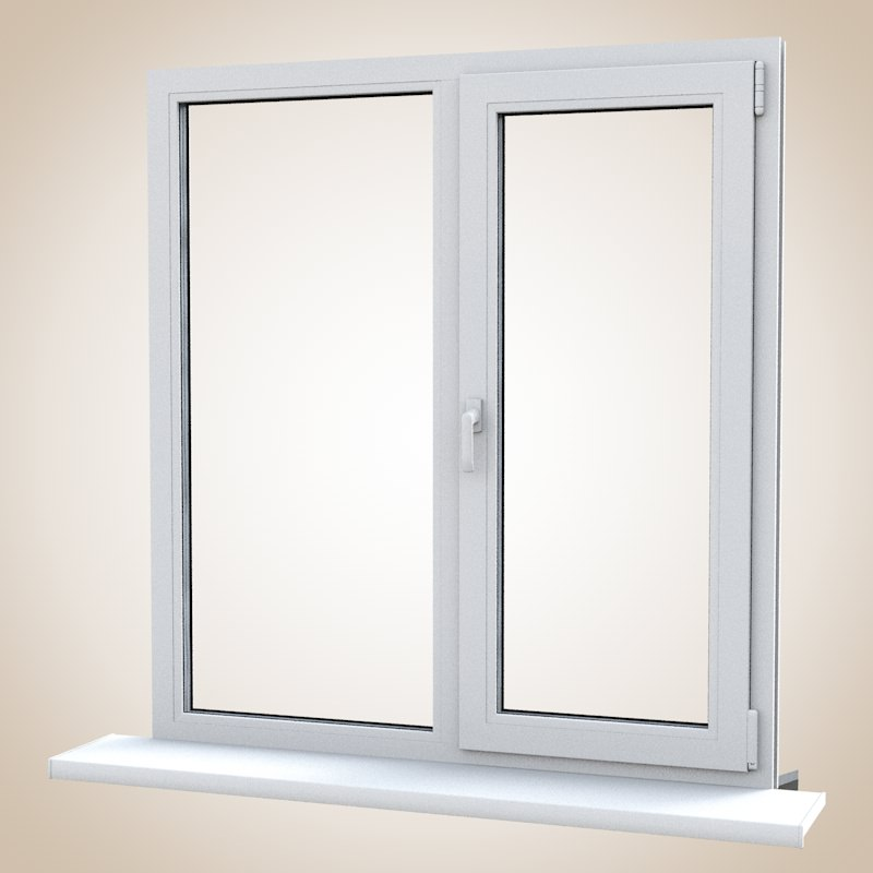 Pvc profile window 3d models for Window 3d model