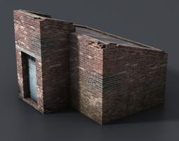 3D model Lowpoly basement entrance