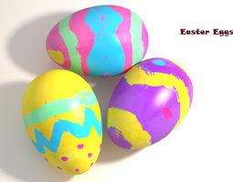 3D model Easter Eggs PBR