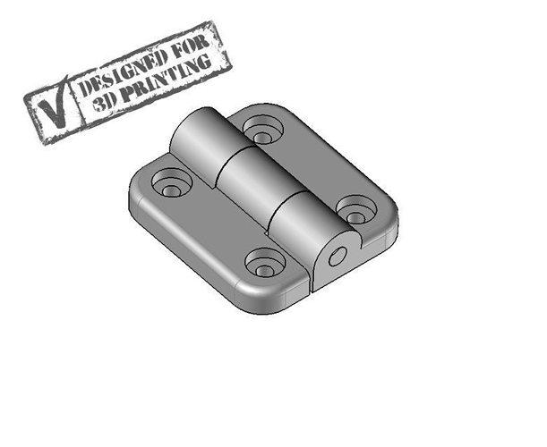 3d printable hinge 3d model stp 1