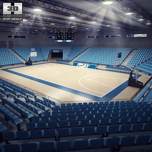 basketball arena 3d model low-poly max obj mtl 3ds fbx c4d lwo lw lws 1