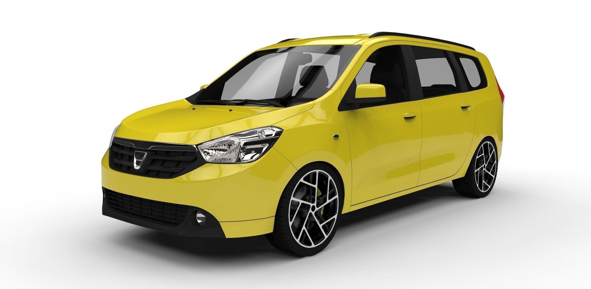 Dacia Lodgy: Dacia Lodgy 3D Model .obj .3ds .fbx .c4d