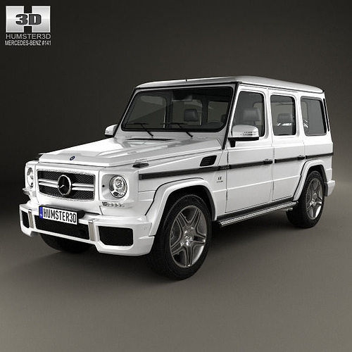 3d model mercedes benz g class 65 amg 2013 cgtrader for Mercedes benz suv models list