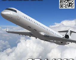 Bombardier CRJ 1000 3D model
