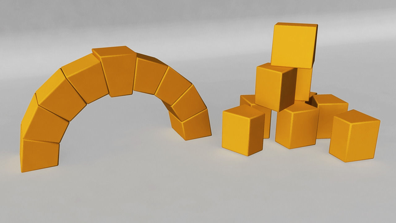 roman arch blocks   model  printable obj cgtradercom