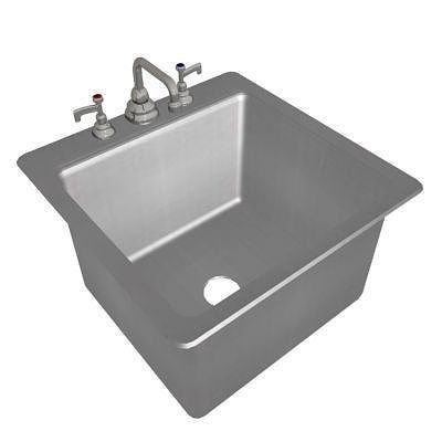stainless steel sink - square 3d model max 1
