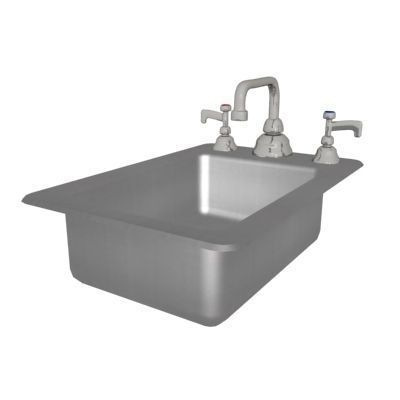 Shallow Stainless Steel Sink : Stainless Steel Sink - Rectangle - Shallow 3D Model .max - CGTrader ...