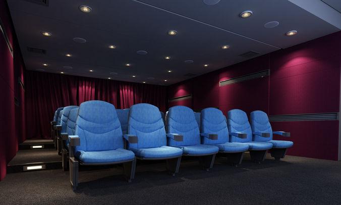 Mini Cinema Theatre 3D Model Max