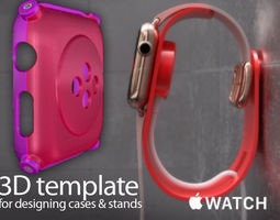 Apple Watch Edition - template for cases and accessories 3D Model