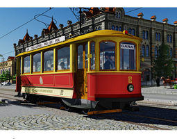 SKODA retro tramway 3D Model