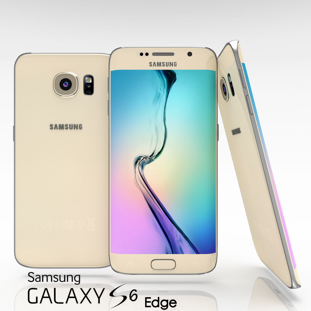 samsung galaxy s6 edge gold. samsung galaxy s6 and edge all color pack 3d model low-poly obj blend gold g