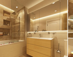 3D model Master bathroom
