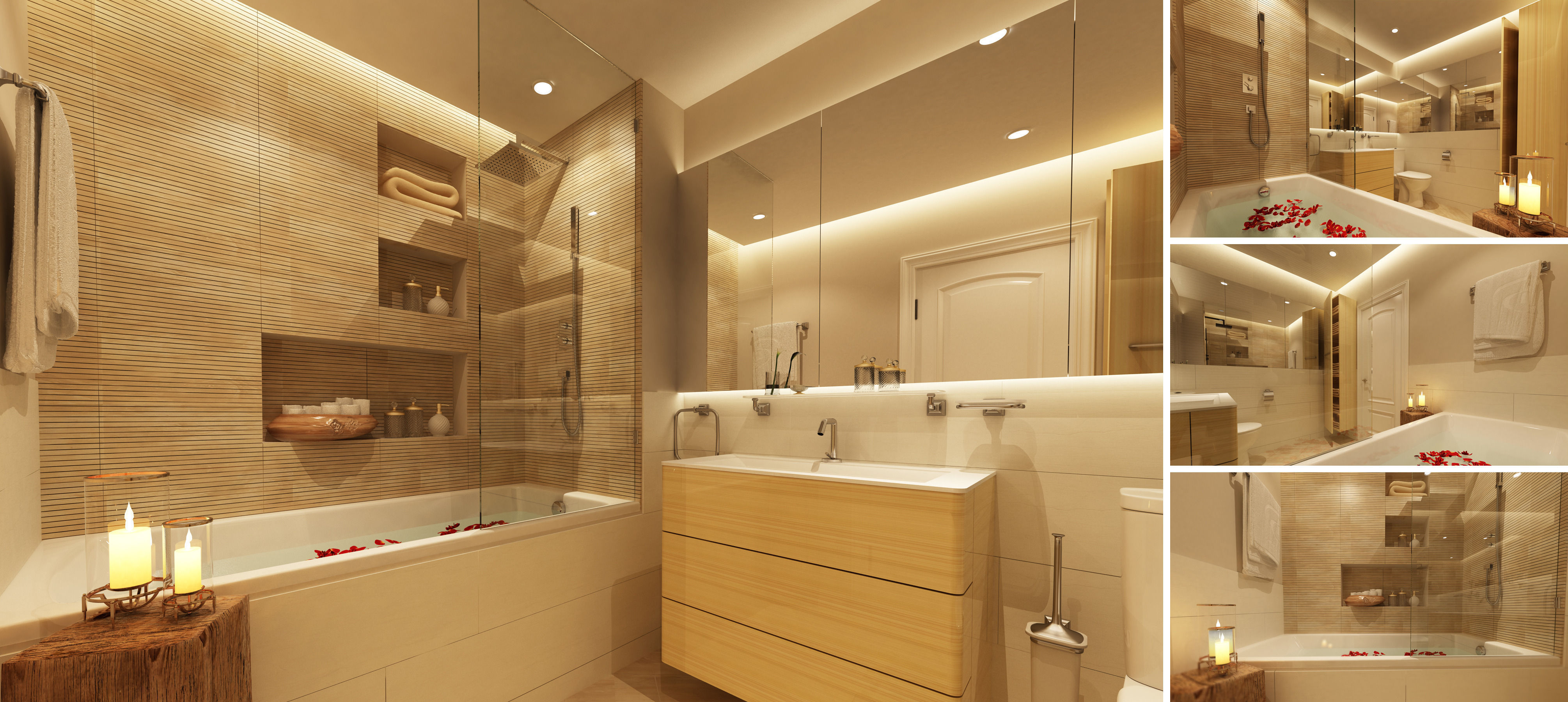 Master bathroom 3d model max for Model bathrooms pictures