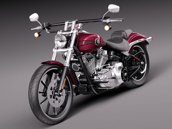 Harley Davidson Softail Breakout 2015 3d Model | 2017