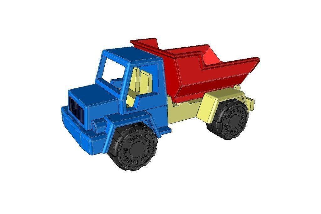 toy dump truck 2 3d model stl stp 5 - Toy Dump Trucks