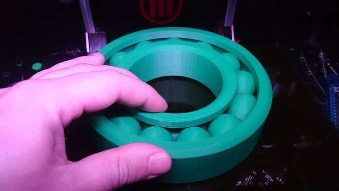 large print-in-place ball bearing  3d model stl stp 3