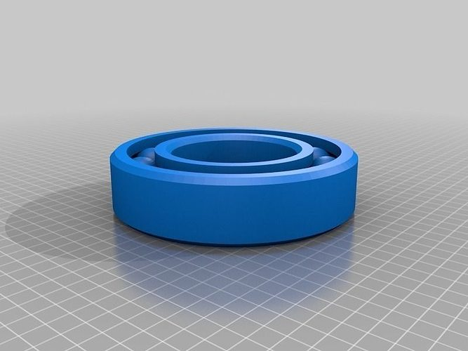 large print-in-place ball bearing  3d model stl stp 2
