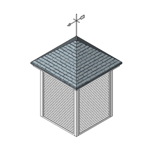 Roof Louvred Vent Free 3d Model Rfa Cgtrader Com