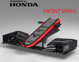 mp4-30 front wing 3d model low-poly max obj 3ds fbx c4d ma mb