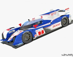 Toyota TS030 LeMans 2012 3D Model