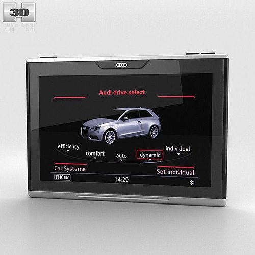audi smart display 3d model max obj mtl 3ds fbx c4d lwo lw lws 1