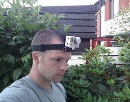 gopro head strap mount 2 3d printable model