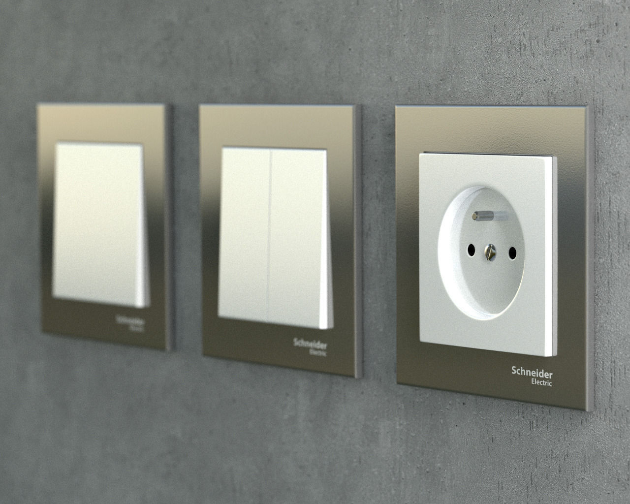 Socket and switches pack 3D | CGTrader for Wall Switches And Sockets  61obs