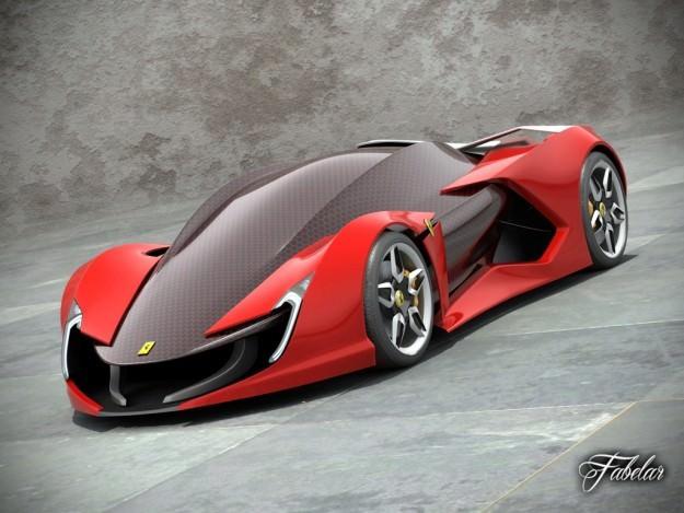 Ferrari Impronta Concept 3D Model Rigged MAX OBJ 3DS FBX