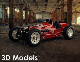 Vintage Sprint Car 3D Model by Media Pixel 3D Model