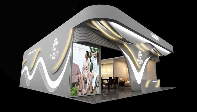 Exhibition area 12X14 3DMAX2009-20083D model