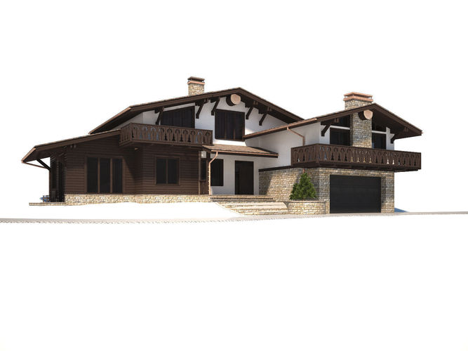 Cottage house3D model