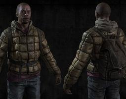 black man sur 3d asset VR / AR ready