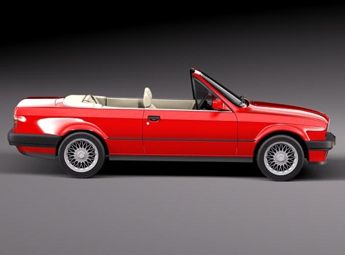 bmw 316i e30 convertible 3d model max obj 3ds fbx c4d. Black Bedroom Furniture Sets. Home Design Ideas