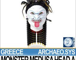 Ancient Greek Monster Medusa Head A 3D Model