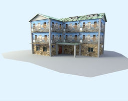 town house 3D Model